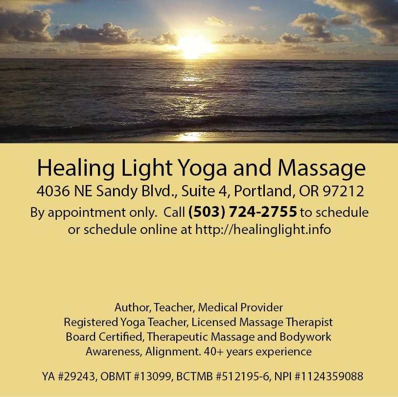 Healing Light Yoga and Massage, Private Yoga Sessions, Massage, Medical Massage
